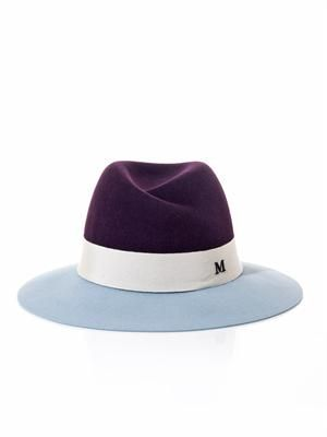 Virginie bi-colour fedora hat