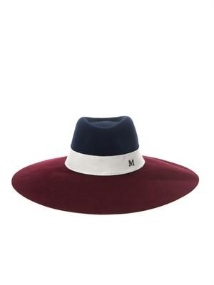 Fara bi-colour capeline hat