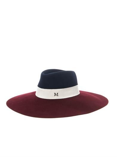 Maison Michel Fara bi-colour capeline hat