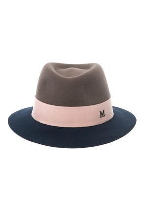Andre bi-colour fedora hat