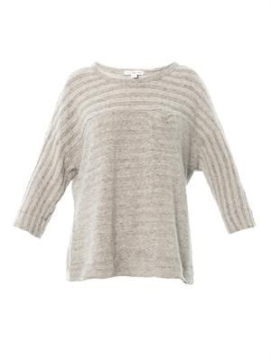 Ribbed texture sweatshirt