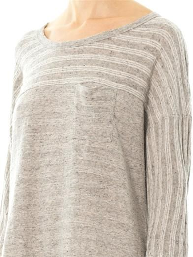 James Perse Ribbed texture sweatshirt