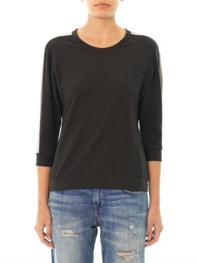 James Perse Dolman-sleeve stripe T-shirt