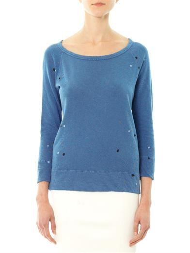 James Perse Paint splatter sweatshirt