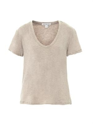 Cotton and cashmere-blend T-shirt