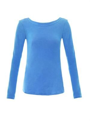 Slub jersey long-sleeved T-shirt