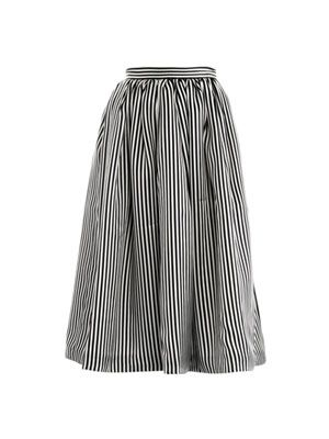 Paley stripe-print silk skirt