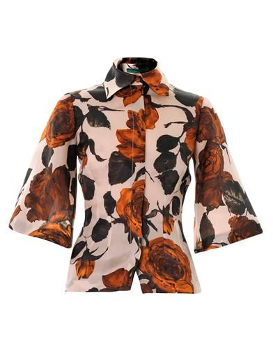 Emilia Wickstead Ricky rose-print organza blouse