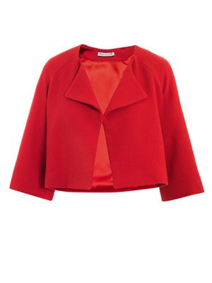 Rubean wool-crepe swing jacket