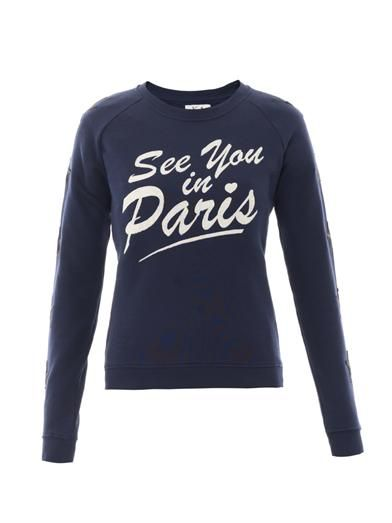 Zoe Karssen See You In Paris star sweatshirt