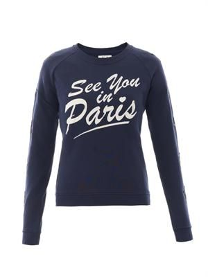 See You In Paris star sweatshirt