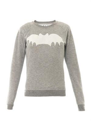 Bat-print sweatshirt