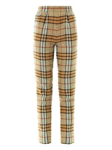 Emilia Wickstead Paolina check-print wool trousers
