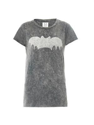 Bat-print T-shirt