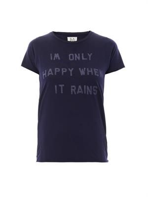 I'm Only Happy When It Rains-print T-shirt