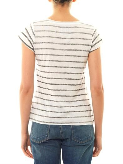 Zoe Karssen Bat and stripe-print T-shirt