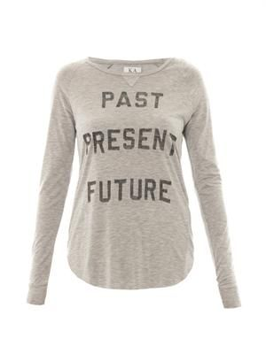 Past Present Future-print T-shirt