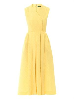 Jully textured-crepe sleeveless dress