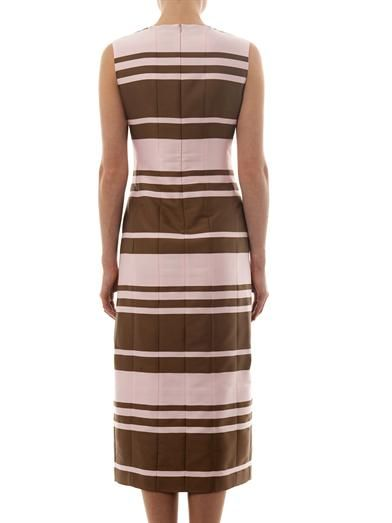 Emilia Wickstead Tallulah striped-crepe midi dress