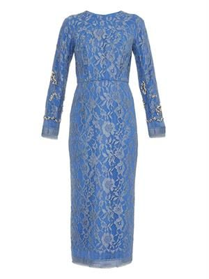 Gemstone-embellished lace dress