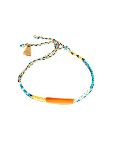 Lucy Folk Neon taco braided bracelet