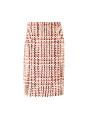 Bi-colour tweed skirt