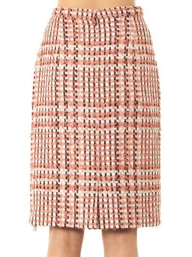 Oscar De La Renta Bi-colour tweed skirt