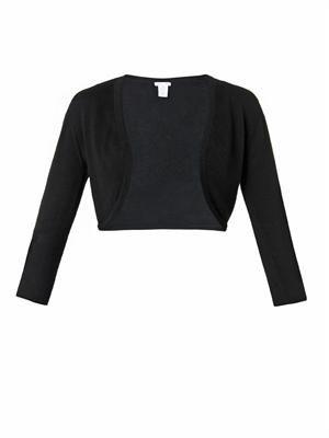 Cashmere and silk-blend bolero
