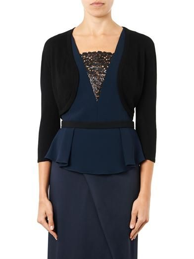Oscar De La Renta Cashmere and silk-blend bolero