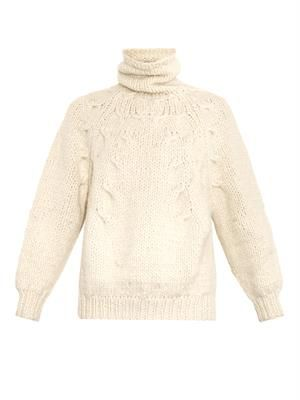 Roll-neck alpaca-blend sweater
