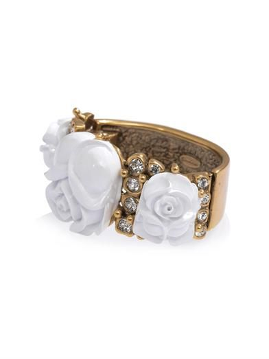 Oscar De La Renta Resin rose cuff