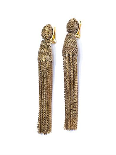 Oscar De La Renta Chain tassel earrings