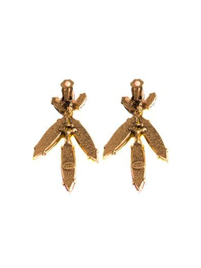 Oscar De La Renta Marquise drop earrings