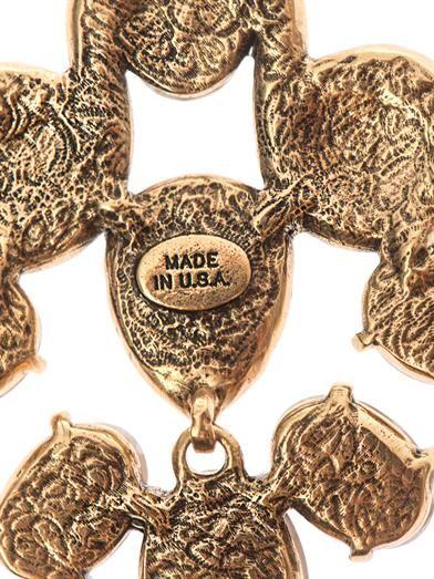Oscar De La Renta Crystal chandelier earrings