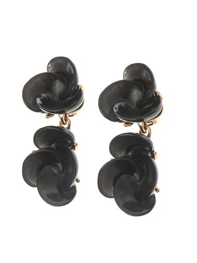 Oscar De La Renta Swirl flower drop earrings