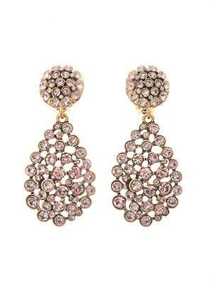 Crystal pavé teardrop earrings
