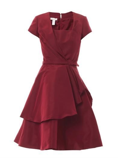 Oscar De La Renta Pleated silk-faille dress