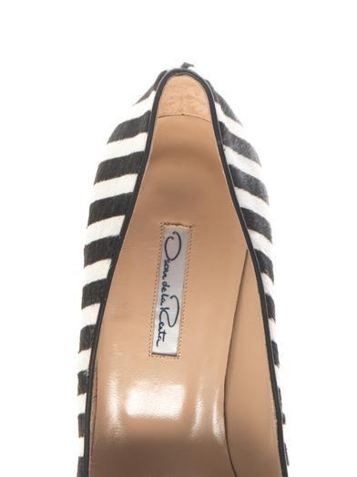 Oscar De La Renta Stacy striped calf-hair pumps