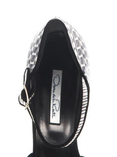 Oscar De La Renta Christina snakeskin sandals