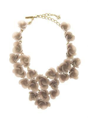 Swirl flower necklace