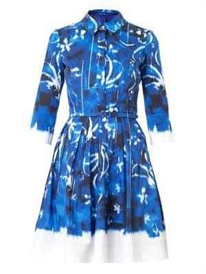 Dégradé cotton dress