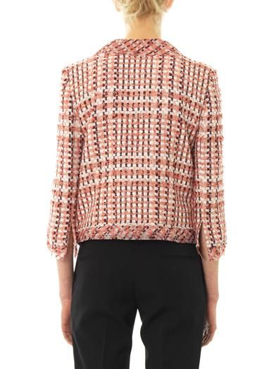 Oscar De La Renta Bi-colour tweed jacket