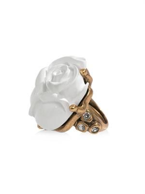 Resin rose ring