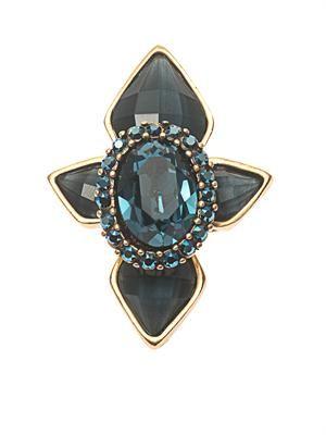 Starburst crystal cocktail ring