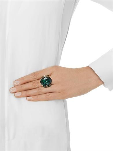 Oscar De La Renta Jewelled cocktail ring
