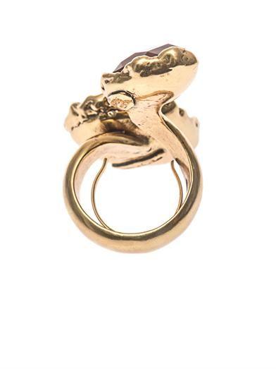 Oscar De La Renta Crystal teardrop ring