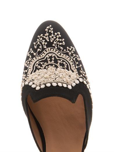 Oscar De La Renta Spanish mule slippers