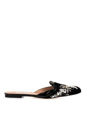 Spanish mule slippers
