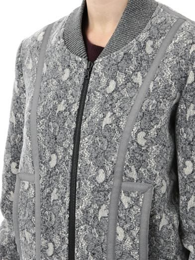 Christopher Raeburn Lace-print wool bomber