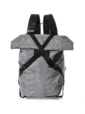Lizard jacquard backpack